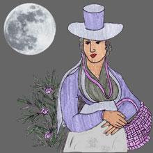 Jungfrau bei Vollmond